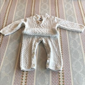 Janie and Jack Cable Knit Onesie